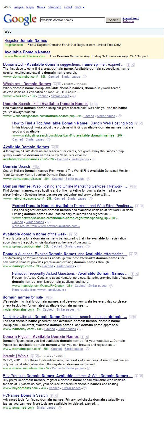 "Domain Pigeon #11 for ""available domain names"" | Matt Mazur"