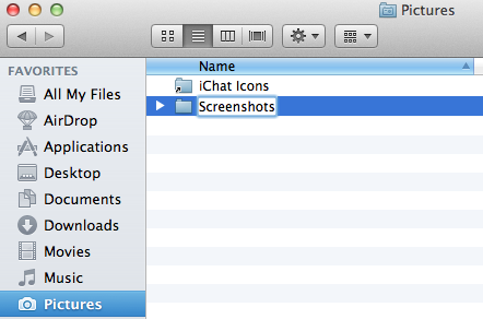 How to change your default screenshot location on mac os x lion 2 ccuart Choice Image
