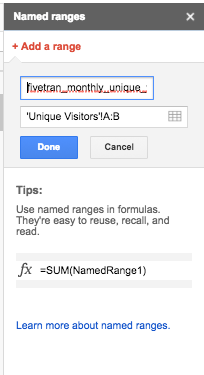 Using Fivetran's Google Sheets Integration to Get Monthly
